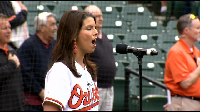 Meteorologist Chelsea Ingram Sings The National Anthem