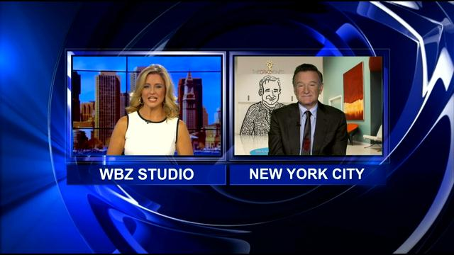 WBZ-TV's Paula Ebben Talks To Robin Williams About 'The Crazy Ones'