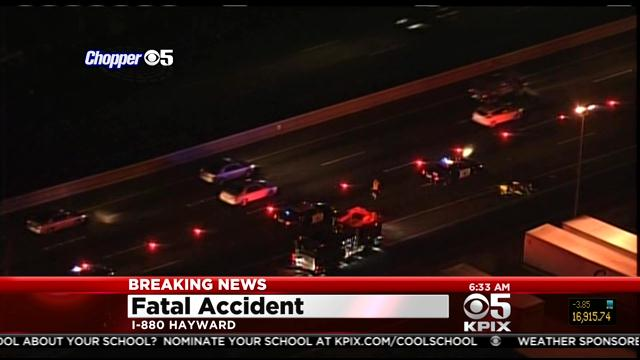 Fatal Vehicle Vs  Pedestrian Accident on I-880 In Hayward