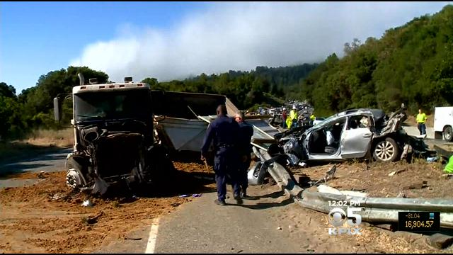 Fatal Big Rig Accident Blocks North Highway 17 In Santa Cruz Mountains