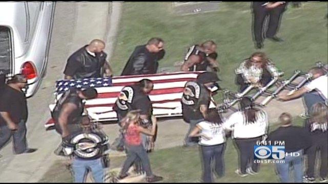 San Jose Hell's Angel Funeral Brings Heavy Police Presence