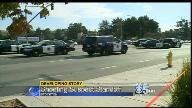 Standoff In Stockton With Suspect In Hells Angels Funeral Shooting